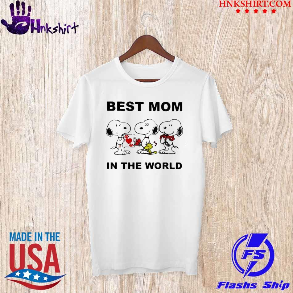 Best Mom In The World Snoopy Shirt