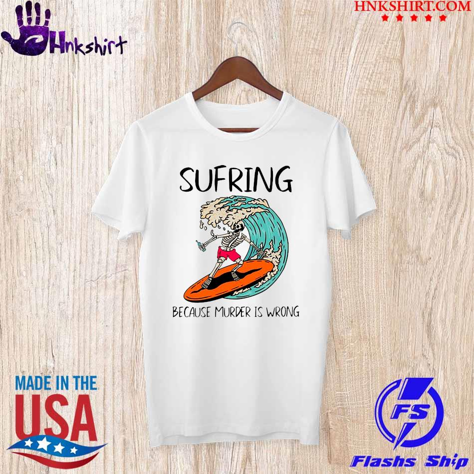 Skellington Suffering because murder is Wrong shirt