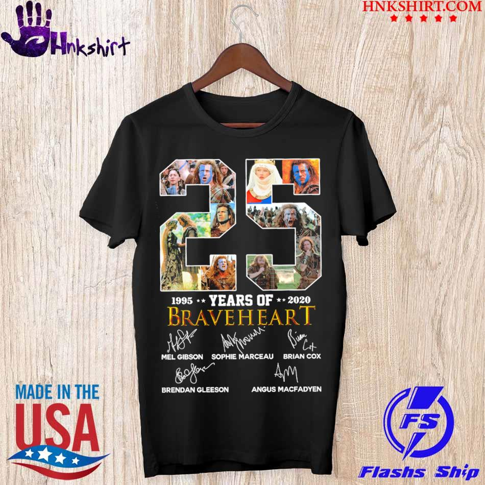 Official 25 Year of 1995 2020 Braveheart signatures shirt