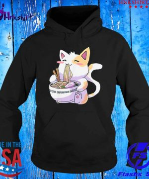 Cat Kawaii Anime Japanese Eating Ramen Shirt hoddie.jpg