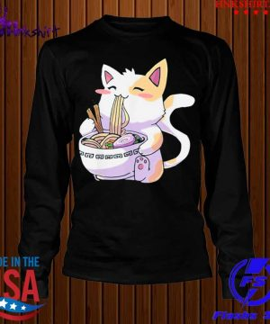 Cat Kawaii Anime Japanese Eating Ramen Shirt longsleeve.jpg